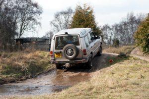 off-road driving hill climb