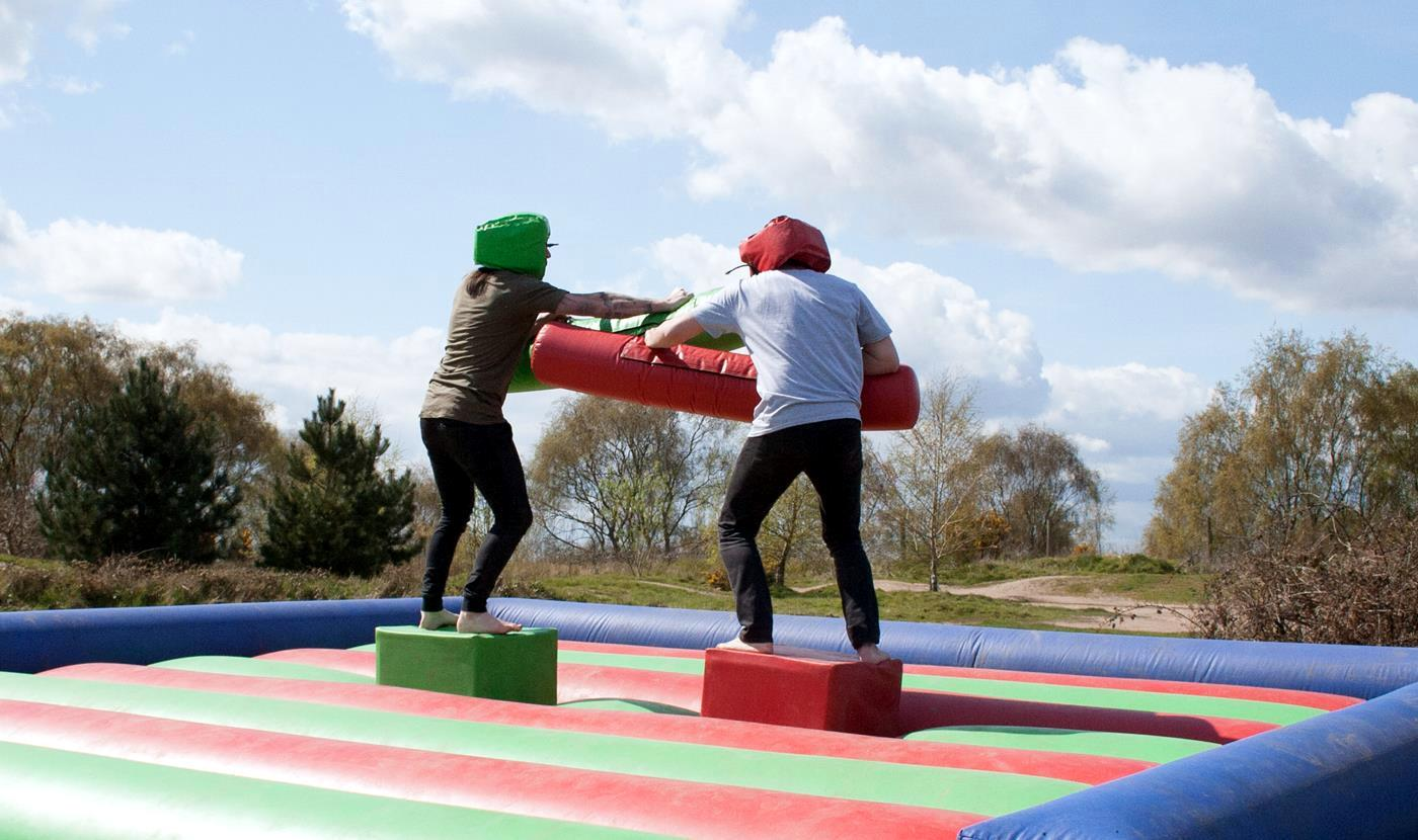 it's a knockout inflatable jousting