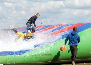 it's a knockout foam slide