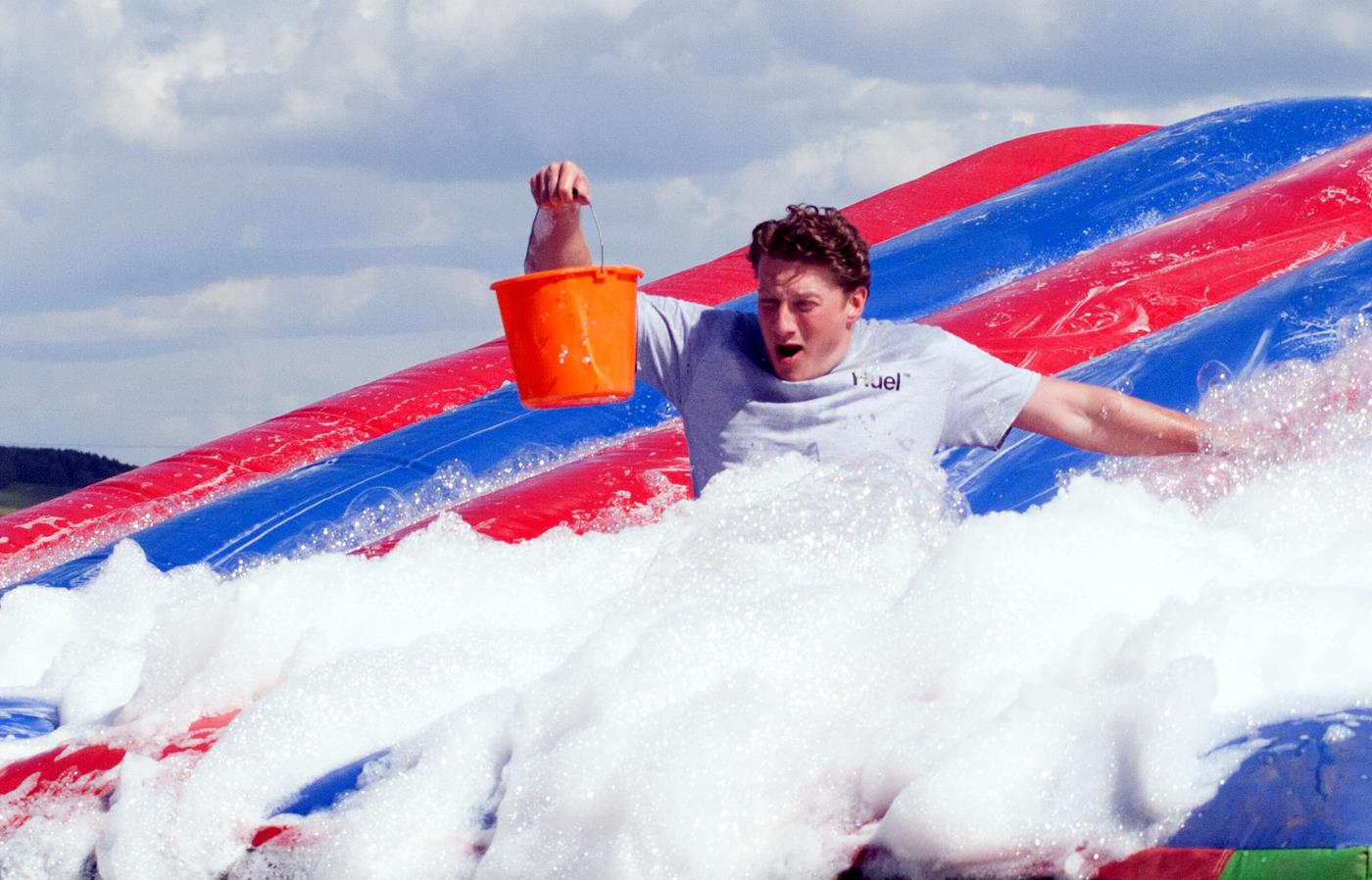 it's a knockout inflatable slide