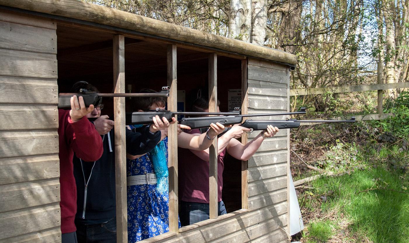 rifles on target
